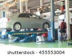 motion blur of mechanic... | Shutterstock . vector #455553004