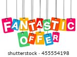 vector colorful hanging... | Shutterstock .eps vector #455554198