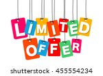 vector colorful hanging... | Shutterstock .eps vector #455554234