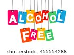 vector colorful hanging... | Shutterstock .eps vector #455554288