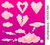 love clouds | Shutterstock .eps vector #45555784