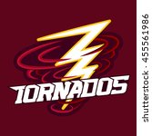 tornado mascot for sport teams. ... | Shutterstock .eps vector #455561986