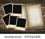 mani instant  photo on the...   Shutterstock . vector #455562400