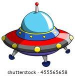 cartoon ufo or alien ship craft ...   Shutterstock .eps vector #455565658