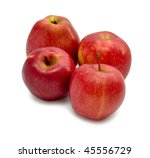 red apples isolated on the... | Shutterstock . vector #45556729