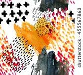 autumn inspired watercolor...   Shutterstock . vector #455567863