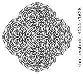 mandala for painting. vector... | Shutterstock .eps vector #455571628