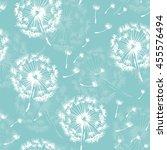 seamless dandelion pattern ... | Shutterstock .eps vector #455576494