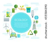 earth ecology design with... | Shutterstock .eps vector #455584390
