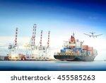 logistics and transportation of ...   Shutterstock . vector #455585263