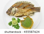 Fried Tilapia Fish With Spicy...