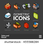 isometric outline icons  3d... | Shutterstock .eps vector #455588284
