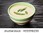 asparagus cream soup   Shutterstock . vector #455598250