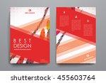 set of brochure  poster design... | Shutterstock .eps vector #455603764
