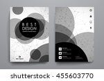 set of brochure  poster design... | Shutterstock .eps vector #455603770