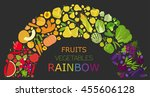 fruits and vegetables.... | Shutterstock .eps vector #455606128