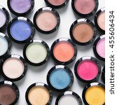 make up eye shadows. view from... | Shutterstock . vector #455606434