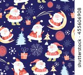 winter seamless pattern with... | Shutterstock .eps vector #455606908