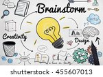 brainstorming analysis planning ... | Shutterstock . vector #455607013