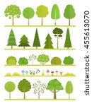 set of flat forest and park... | Shutterstock .eps vector #455613070