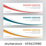 Stock vector abstract banner design background vector website headers 455615980