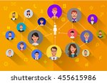 avatars vector business people... | Shutterstock .eps vector #455615986
