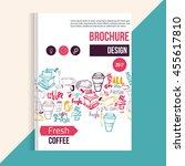 modern coffee brochure  menu.... | Shutterstock .eps vector #455617810