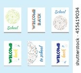 Set Of Colorful Cards With...