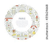 france and paris city concept.... | Shutterstock .eps vector #455624668