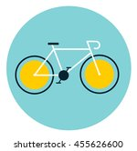 white bicycle with yellow... | Shutterstock .eps vector #455626600
