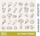 ice cream and dessert... | Shutterstock .eps vector #455629720