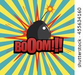 comic book bomb explosion with...   Shutterstock .eps vector #455634160