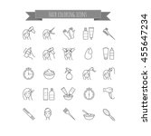 hair coloring icons | Shutterstock .eps vector #455647234