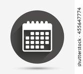 calendar icon. event reminder... | Shutterstock . vector #455647774