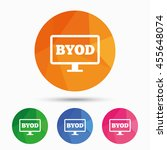 byod sign icon. bring your own... | Shutterstock . vector #455648074