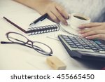 business concepts.woman working ... | Shutterstock . vector #455665450