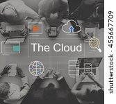 big data domain web page seo... | Shutterstock . vector #455667709