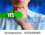 yes or no concept image. person ... | Shutterstock . vector #455668480