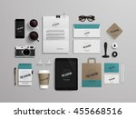 corporate identity template set ... | Shutterstock .eps vector #455668516