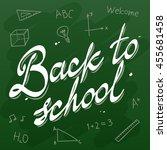 back to school vector... | Shutterstock .eps vector #455681458