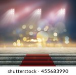 stage lighting background 3d... | Shutterstock . vector #455683990