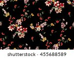 Stock vector trendy seamless floral pattern in vector 455688589