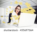 despair and stress for spam e...   Shutterstock . vector #455697364