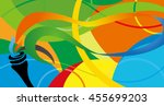 icon sport torch with colorful... | Shutterstock .eps vector #455699203