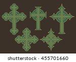 set of six vector illustrations ... | Shutterstock .eps vector #455701660