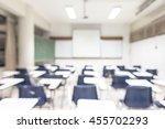 blur classroom education... | Shutterstock . vector #455702293