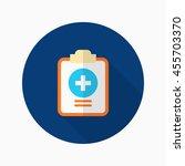 medical records icon   vector...   Shutterstock .eps vector #455703370