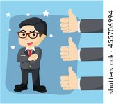 great thumb up appreciation for ... | Shutterstock .eps vector #455706994