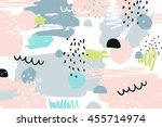 abstract background with hand... | Shutterstock . vector #455714974