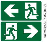 set of emergency exit sign ... | Shutterstock .eps vector #455718064